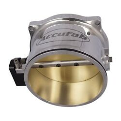 Accufab Universal 125mm Polished Max Throttle Body For Clamshell Clamps U125max