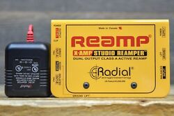 Radial Engineering X-Amp 2-Channel Active Studio Re-Amping Device w AC Adaptor