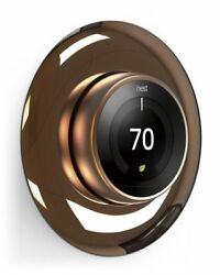 Wall Plate Cover For Nest Learning Thermostat Bronze Round Easy Install 1-3 Gen