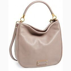 NWT MARC JACOBS *Original* Too Hot To Handle Leather Hobo Bag CEMENT Gray $438