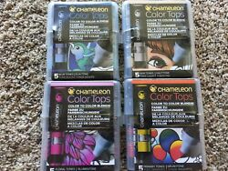 LOT OF 4 Chameleon Color Tops 5 pc. Marker Set ToneColor New packages