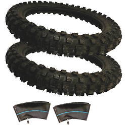 2 Pack Sdg Ssr High Performance Replacement Tires Tubes 90/100-14 Dirt Pit Bikes