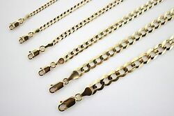 10k Authentic Solid Yellow Gold Cuban Chain For Men Women 2.5mm-10mm/10 1630