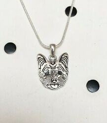 Yorkshire Terrier Sterling Silver Charm Necklace - New - FREE SHIPPING