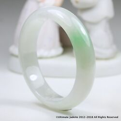Jade Bangle - 58.8mm Apple Green And White Mb10l5l10g Grade A Jadeite