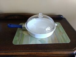 Princess House Nouveau 10.5 Inch Skillet With Dome Lid And Handle.