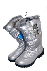 WOMENS Totes Thinsulate Insulated Silver WATERPROOF Winter Boots Size 6 Wide NEW
