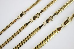 Authentic 10k Solid Yellow Gold Miami Cuban Link Chain 5mm/2230