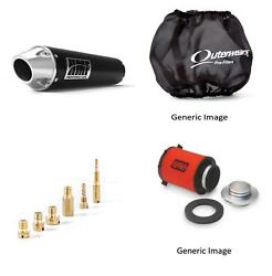 Jet Kit,pre Filter,air Filter And Black Exhaust For Yamaha Wolverine 350 1995-2005