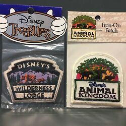 Vintage Disney Lot Animal Kingdom & Wilderness Lodge Iron-on Patch Patches NEW