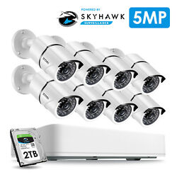 Zosi 5mp Hd Home Security Camera System Cctv Outdoor 2tb Hard Drive 8ch Dvr Kit