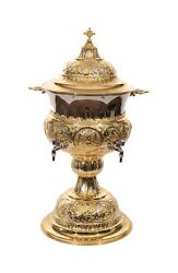 High Quality Gold And Silver Plated Orthodox Holy Water Font 27.5-70cm 12l 405oz
