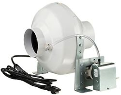 162 CFM Airflow Backward Curved Centrifugal Impeller 4-In Duct Dryer Booster Fan