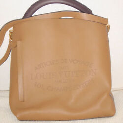 USED Louis Vuitton Tote Bag Bagatel Limited Beige free shipping Japan popular