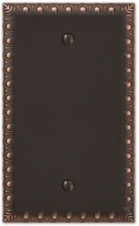 Home Electrical Switch Plates Cover Light Outlet 1 Blank Wall Plate Aged Bronze