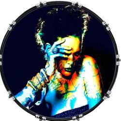 20 Custom Bass Kick Drum Front Head Graphic Graphical Psychedelic 2