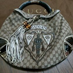 USED Gucci Ladies Indy Bag free shipping Japan Very popular Famous woman multi