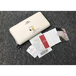 COACH long wallet wallet F53773 Snoopy white shipping fee Japan