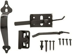 Home Safety Fencing Parts Steel Fence Latches Standard Gate Thumb Latch Black