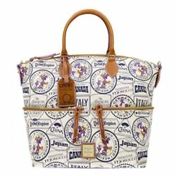 Disney Parks 2017 Food Wine Figment Passholder Dooney Bourke Tote New Tags