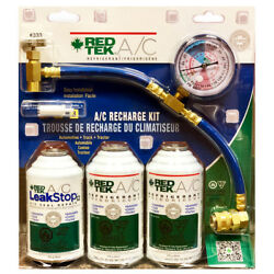 REDTEK AC Refrigerant Recharge Kit with Gauge