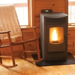 Home Heating Fireplaces Freestanding Hopper Wood Pellet Stove w Auto Ignition