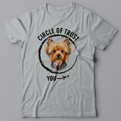 Cool T-shirt CIRCLE OF TRUST - YORKSHIRE TERRIER  - Yorkie gift for dog lover