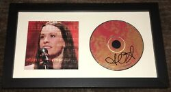 Alanis Morissette Signed Autograph Mtv Unplugged Framed Matted Cd W/exact Proof