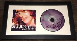 Alanis Morissette Signed Autograph So Called Chaos Framed Cd W/exact Proof
