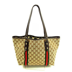 GUCCI Tote Bag GG Canvas Ladies Authentic Used Y3965