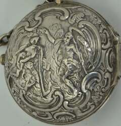 Georgian Father Time silver Repousse pair case Verge Fusee TartsLondon watch