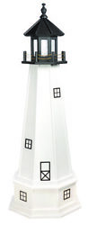 Amish Handcrafted In Usa - Poly Garden Lighthouse - Cape Cod - Lighting Options
