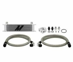 Mishimoto Mmoc-ut Silver Universal 10-row Thermostatic Oil Cooler Kit