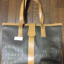 USED Gucci Horseshoe Tote Bag free shipping Japan beige Very popular famous