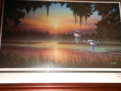 Sanctuary Pond By Jim Booth Artist Proof 71 Of 95 Signed Twice By The Artistandnbsp