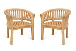 Windsor's Premium Grade A Teak Curved Arm Chair,30lbs. Priced And Sold 2 Per Pack