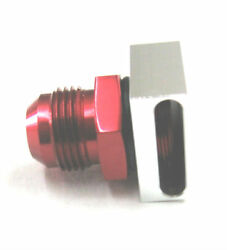 12an No Weld Vacuum Baffle For Racing Vacuum Pump Show Polish Red Anodized Alum