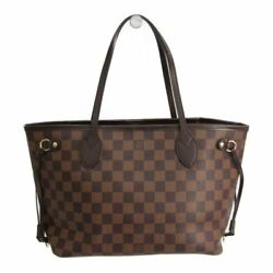 Louis Vuitton Damier Neverfull PM N51109 Women's Tote Bag Ebene BF320574