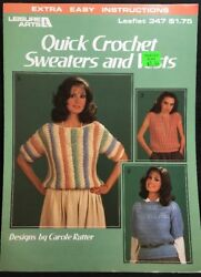 Leisure Arts Quick Crochet Sweaters And Vests Leaflet 347 1985