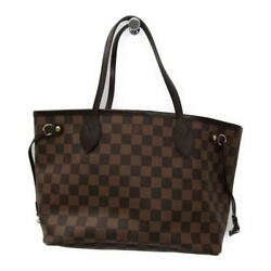 Louis Vuitton Damier Neverfull PM N51109 Women's Tote Bag Ebene BF318004