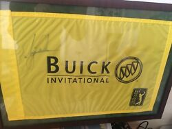 2019 Masters Champ Tiger Woods Collection. Signed Flag Plaque And Photos.