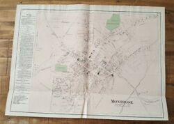Antique Colored Map Of Montrose - Pennsylvania / A. Pomeroy And Co. 1872
