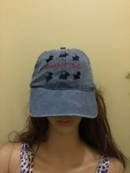 Scottish Terrier Scotty Dog Embroidered Ladies Baseball Cap. DENIM