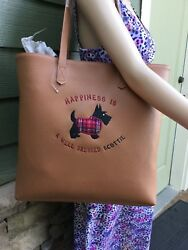 Scottish Terrier Scottie Scottie Dog Embroidered Ladies Totebag. CAMEL . NEW