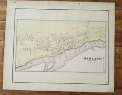 Antique Colored Map Of Oakland Twp - Pennsylvania / A. Pomeroy And Co. 1872