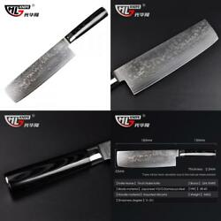 Japanese Damascus kitchen knives Nakiri knife for cooking chef vg10 couteau...