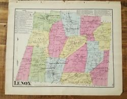 Antique Colored Map Of Lenox, Pennsylvania / A. Pomeroy And Co. 1872