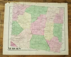 Antique Colored Map Of Auburn, Pennsylvania / A. Pomeroy And Co. 1872