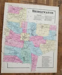 Antique Colored Map Bridgewater, Pennsylvania / A. Pomeroy And Co. 1872
