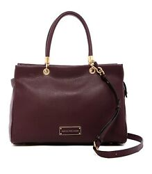 NWT Marc by Marc Jacobs Too Hot to Handle Large Satchel Bag WINE Brass HW $528